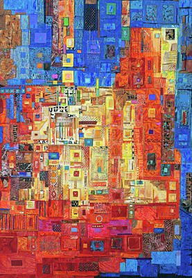 Mixed Media - Nearly Dawn by Marjorie Sarnat