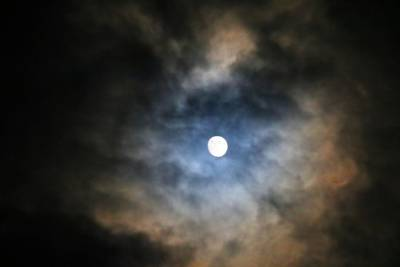 Photograph - Nearly Full Moon by Kathryn Meyer