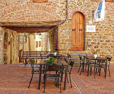 Photograph - Nearly Opening Time In Paciano by Dorothy Berry-Lound