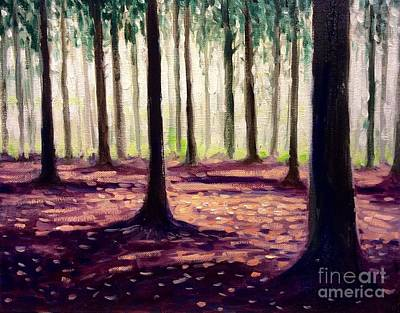 Nearly Winter Forest Up North Art Print
