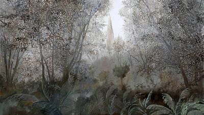 Fog Painting - Nebbia Nel Bosco by Guido Borelli