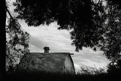 Photograph - Nebraska - Barn - Black And White by Nikolyn McDonald