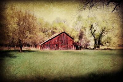 Barns Digital Art - Nebraska Barn by Julie Hamilton