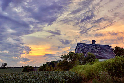 Photograph - Nebraska - Barn - Sunset by Nikolyn McDonald