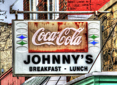 Photograph - Nebraska City Johnny's For Breakfast Lunch And Coca-cola by J Laughlin