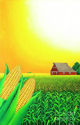 Painting - Nebraska Cornfield by Larry Smart
