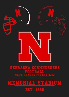 Nebraska Cornhuskers 2 Art Print
