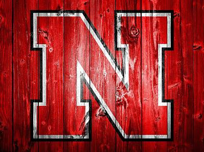 Nebraska Cornhuskers Barn Door Art Print