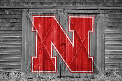 Nebraska Cornhuskers Barn Doors Art Print by Joe Hamilton
