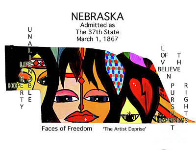 Painting - Nebraska by Deprise Brescia
