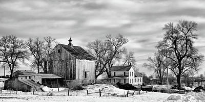 Photograph - Nebraska Farm In Winter - 2 by Nikolyn McDonald