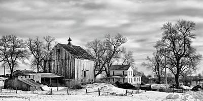 Photograph - Nebraska Farm In Winter - 2 by Nikolyn McDonald