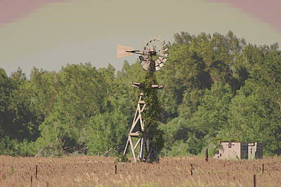 Nebraska Farm Life - Lone Windmill Original