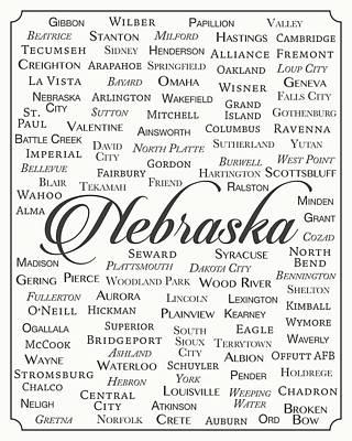 Omaha Nebraska Art Digital Art - Nebraska by Finlay McNevin