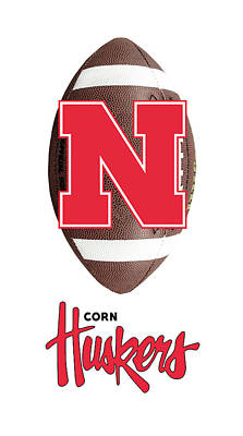 Digital Art - Nebraska Football by Daniel Hagerman