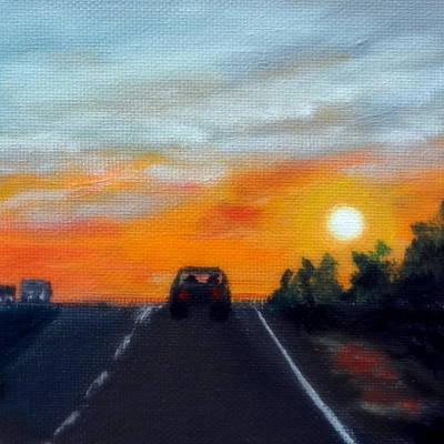 Painting - Nebraska Highway by Katy Hawk