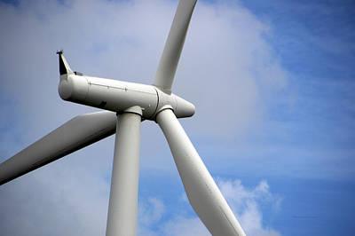 Nebraska Modern Windmill Turbine Art Print by Thomas Woolworth