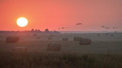 Art Print featuring the photograph Nebraska Mornings.. by Al Swasey