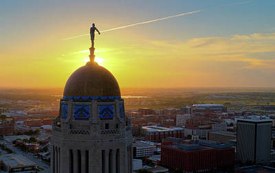 Photograph - Nebraska State Capitol Building At Sunset by Mark Dahmke
