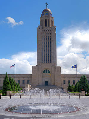 Photograph - Nebraska State Capitol Building by Mark Dahmke