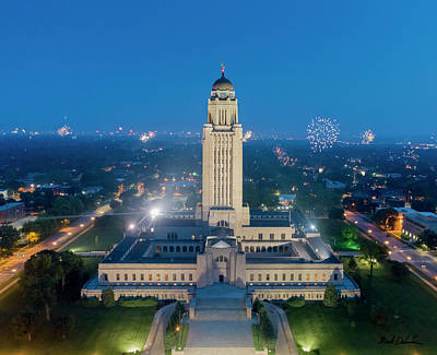 Photograph - Nebraska State Capitol - July 4th by Mark Dahmke