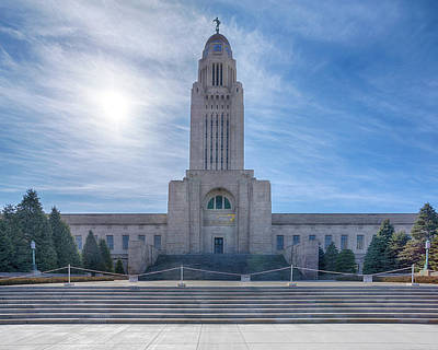 Photograph - Nebraska State Capitol by Susan Rissi Tregoning