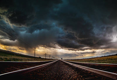 Nebraska Storm Hwy 30 Art Print by Darren  White