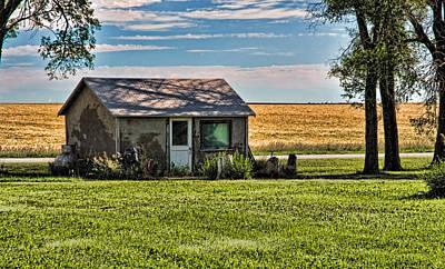 Photograph - Nebraska Wheat Field Cottage by Ginger Wakem
