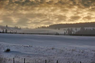 Snow Drifts Photograph - Nebraska Winter by Donald Schwartz
