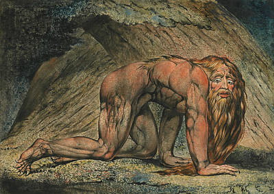 William Blake Painting - Nebuchadnezzar by William Blake