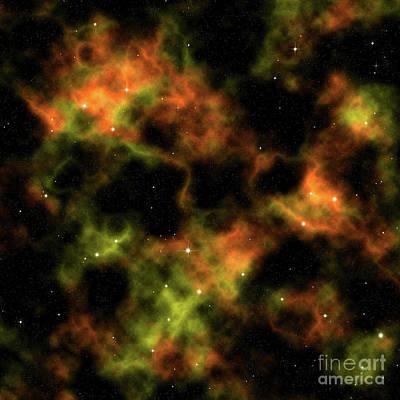 Digital Art - Nebula by Dee Cresswell