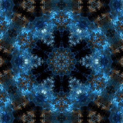 Nebula Mandala 3 Art Print by Julia Bagryanskaya