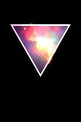Digital Art - Nebula Triangle by Mike Lopez