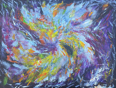 Turbulent Skies Painting - Nebula Waiting For A Name by Kait Sewell