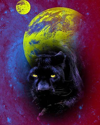 Digital Art - Nebula's Panther by Swank Photography