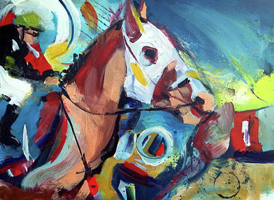 Painting - Neck And Neck by John Jr Gholson