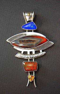 Ammolite Jewelry - Necklace by ALVIN THERIAULT and  ANGELIQUE CEJKA