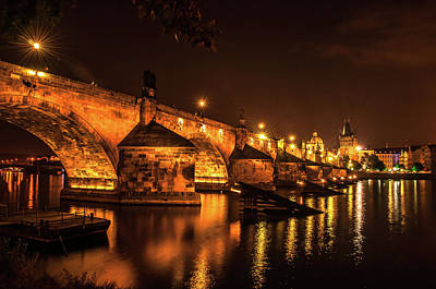 Photograph - Necklace Of Golden Lights. Charles Bridge by Jenny Rainbow