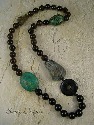 Smokey Quartz Jewelry - Necklace by Sara Young