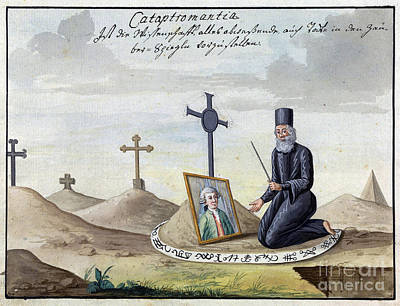 Necromancer Photograph - Necromancy, 18th Century by Wellcome Images