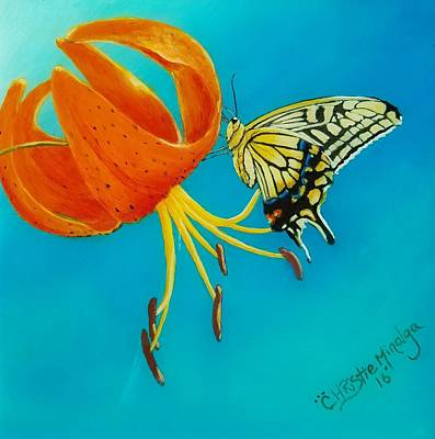 Art Print featuring the painting Nectar  by Christie Minalga