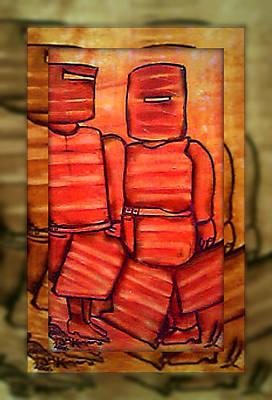 Studio Gang Painting - Ned Kelly Art - Sunset Killers by Joan Kamaru