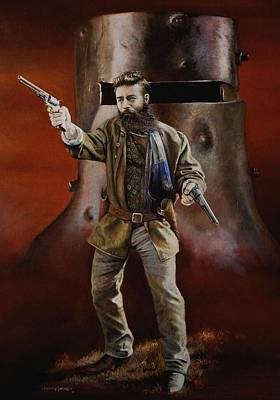 Ned Kelly Art Print by Chris Collingwood