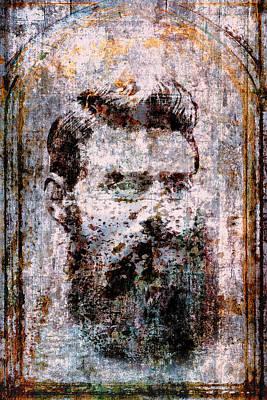 Wales Digital Art - Ned Kelly Portrait by Daniel Hagerman