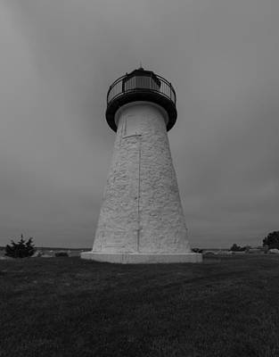 Photograph - Ned Point Light Black And White by Brian MacLean