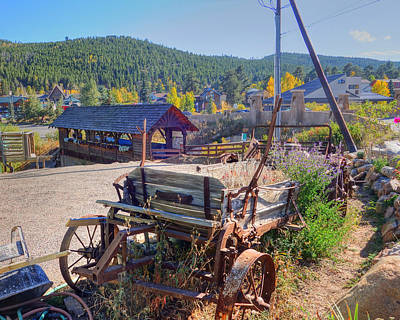 Photograph - Nederlands Colorado Metal And Wooden Cart by Toby McGuire
