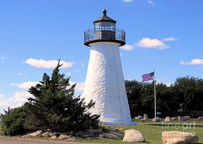 Photograph - Ned's Point Light Side View by Janice Drew