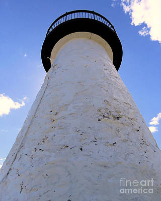 Photograph - Neds Point Light Skyward by Janice Drew