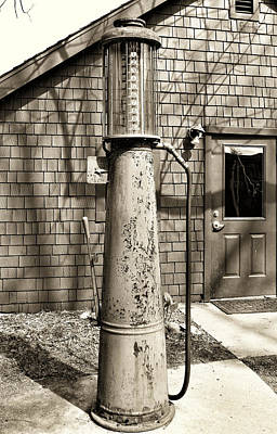 Old Time Feel Photograph - Need A Fill Up by Rachel Cohen