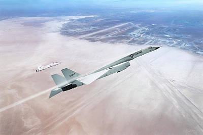 Digital Art - Need For Speed - Xb-70 by Peter Chilelli